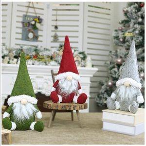 plush faceless santa • Christmas decor • set of 3